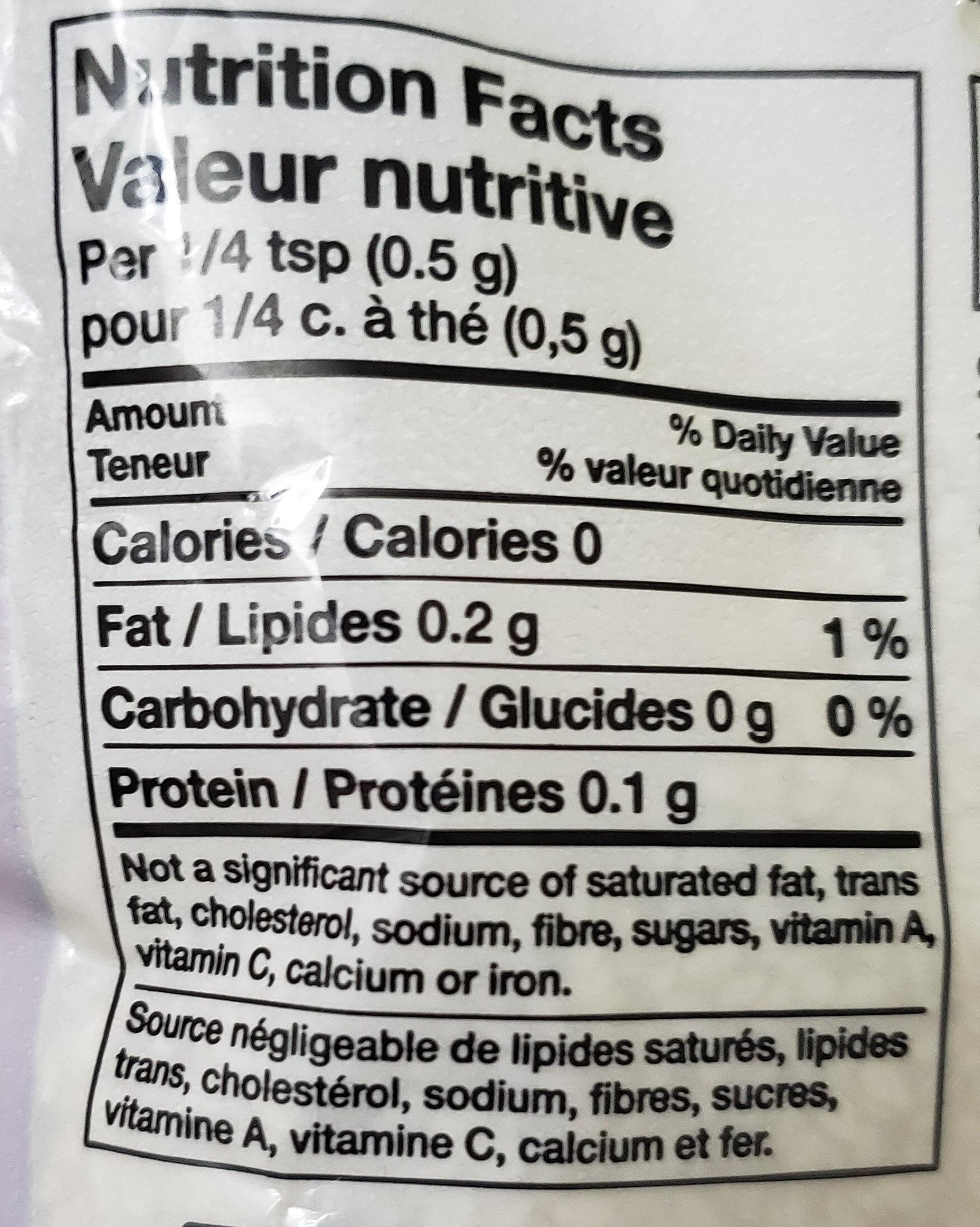 sesame seeds - Nutrition facts - en