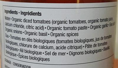 Sauce pour pâtes aux tomates et au basilic - Ingrédients