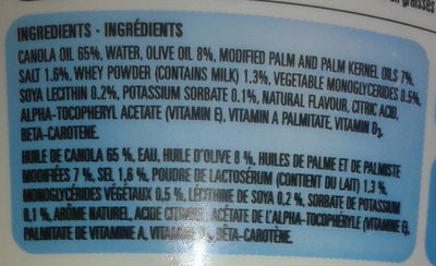 margarine - Ingrédients - fr