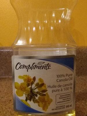 Pure canola oil - Product - fr
