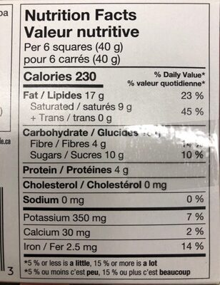 Dark chocolate with roasted almonds - Nutrition facts - fr