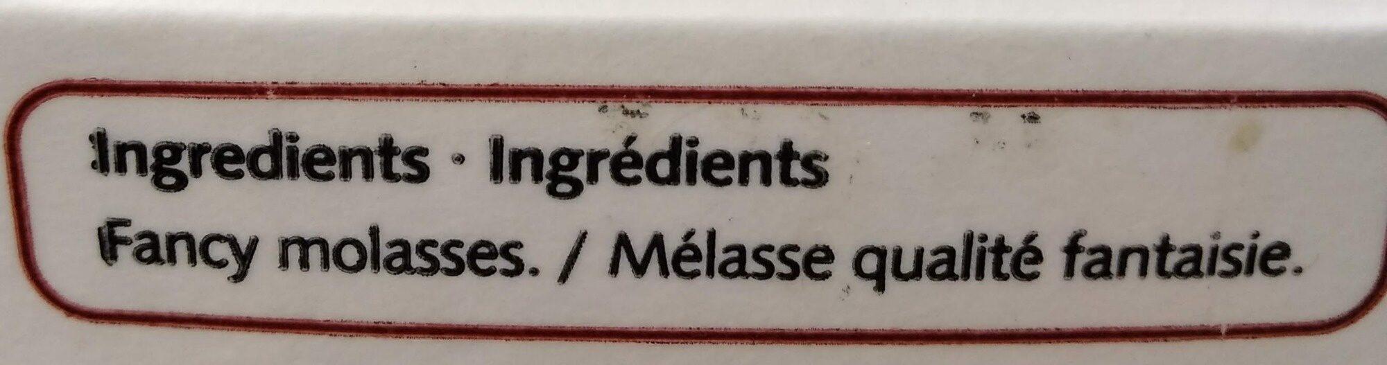 Fancy molasses - Ingrédients - fr