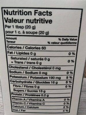 Fancy molasses - Informations nutritionnelles - fr