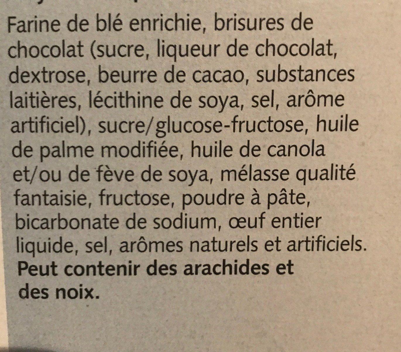Chocolate Chip Cookies - Ingrédients - fr