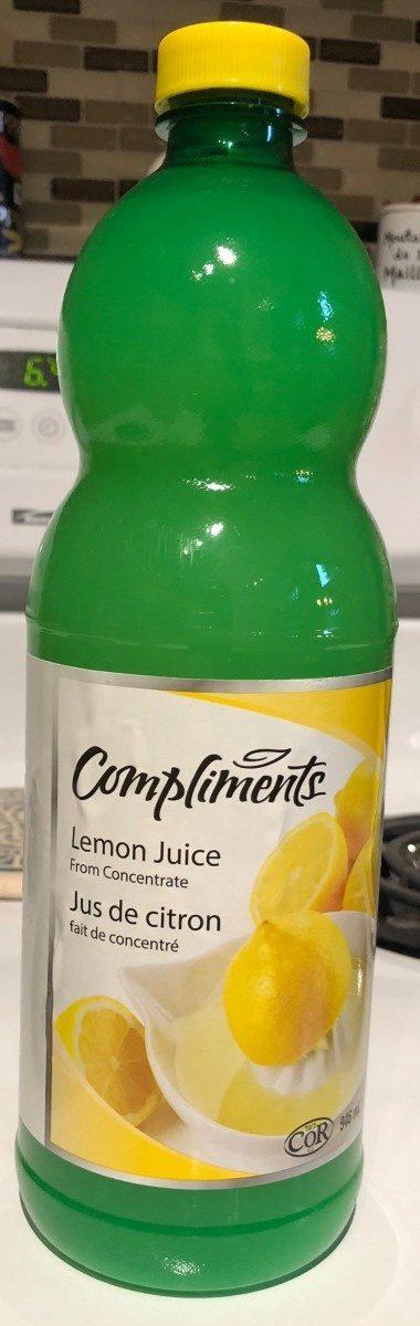 Jus De Citron Fait De Concentré - Produit