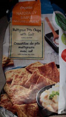 Multigrain pita chips with salt - Produit - fr