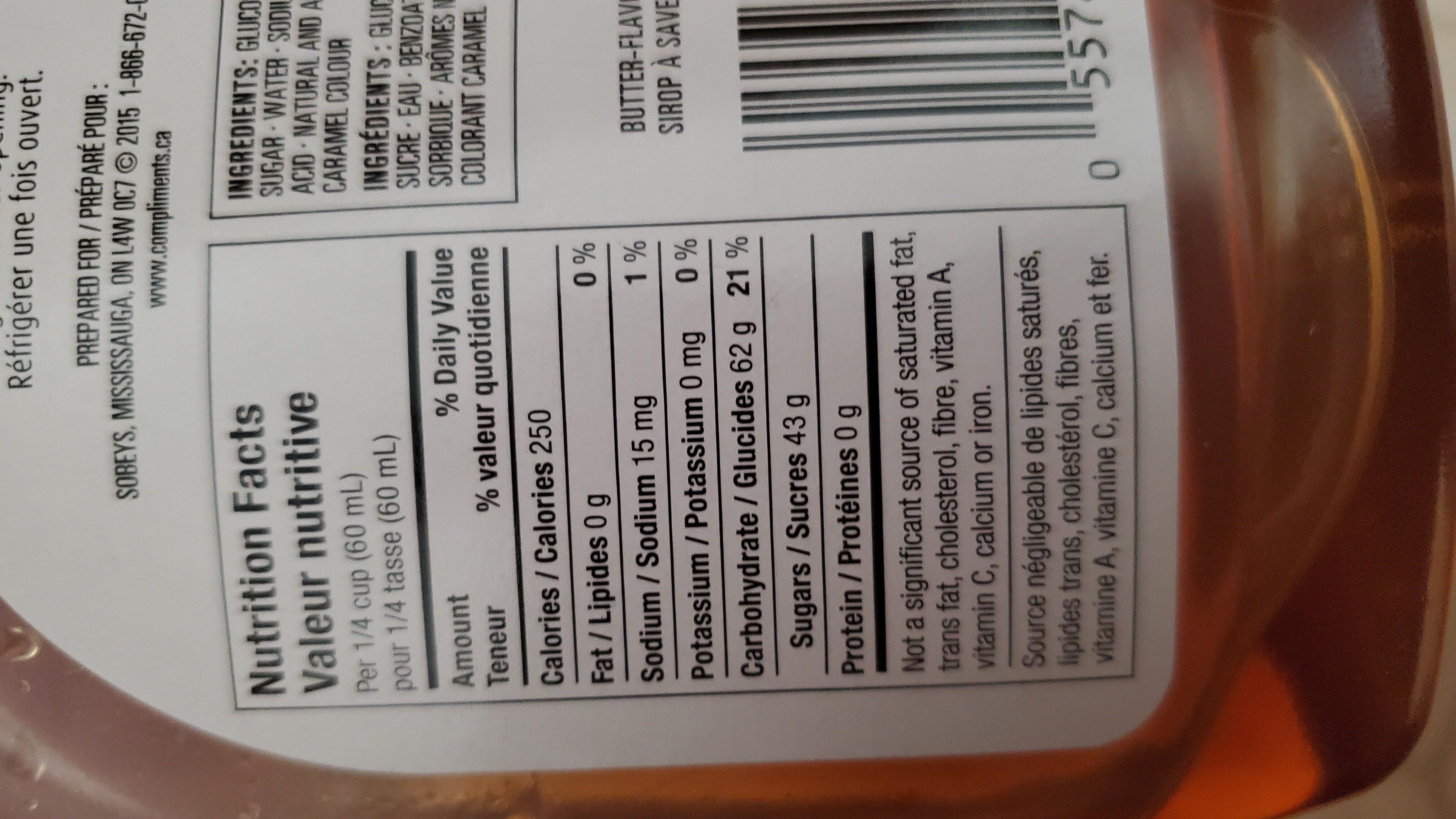 syrup - Ingrédients - en
