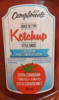 Low sodium ketchup style sauce - Produit - fr