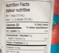 Strawberry jam - Informations nutritionnelles - en