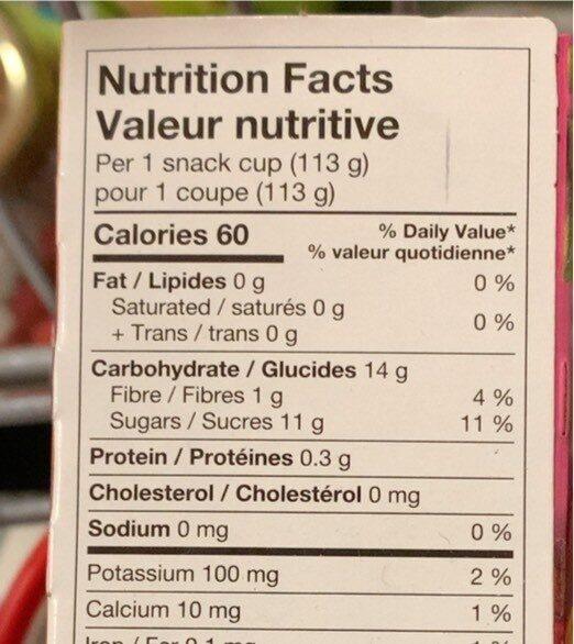 Collation aux pommes-fraises - Nutrition facts - fr