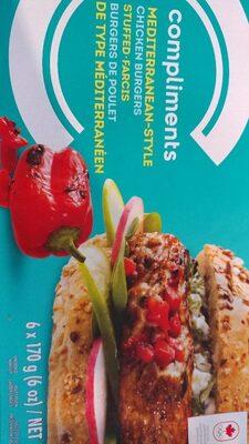 Burgers de poulet de type méditerranéen - Produit - fr