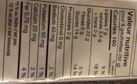 Gaufrette au chocolat - Nutrition facts - fr