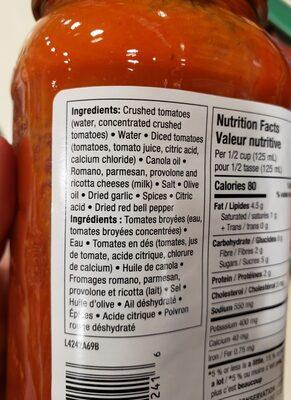 Four-Cheese - Ingredients - en