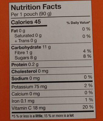 Super Squeeze (pommes et fraises) - Informazioni nutrizionali - fr
