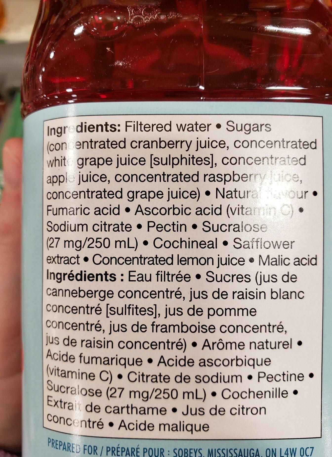 Cocktail canneberge framboise - Ingredients - en