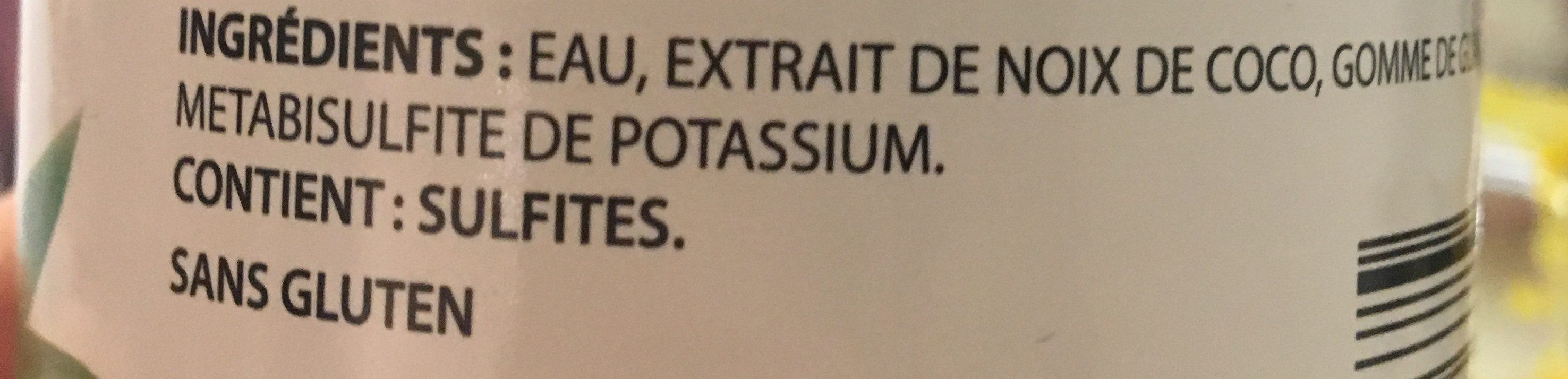Lait de coco - Ingrédients - fr