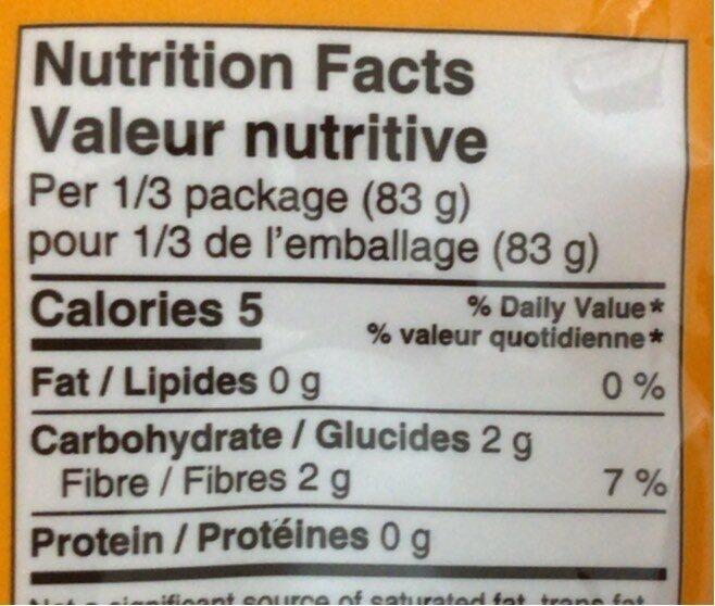 Nouilles Konjac - Informations nutritionnelles - fr