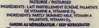 Lait (2%) - Ingrédients - fr