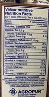 Lait au chocolat - Informations nutritionnelles - fr