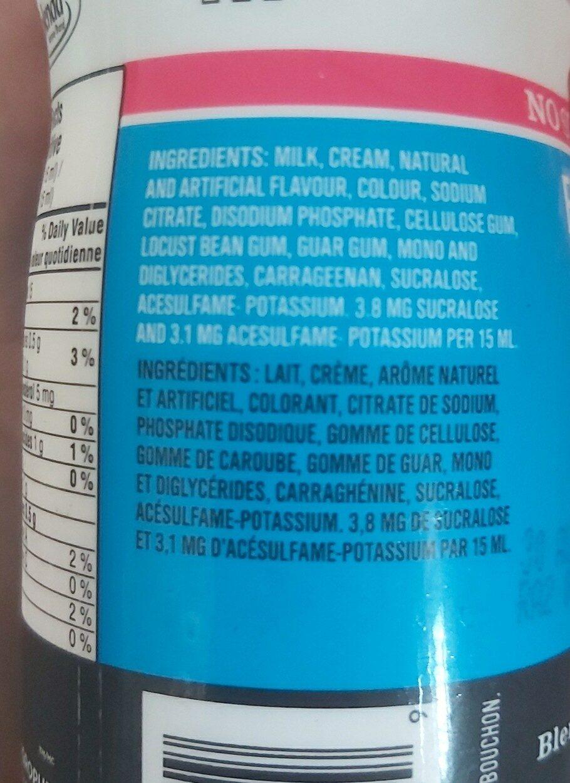 vraie crème à la vanille pour le café - Ingredients - en