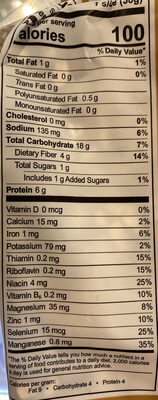 The big 16 sprouted wheat bread, the big 16 - Nutrition facts - en