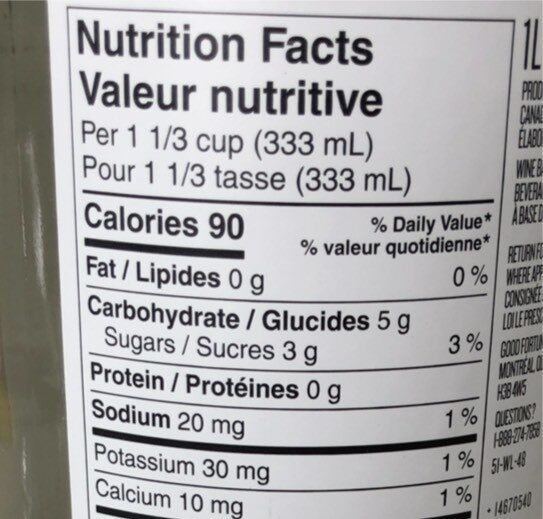 Good Fortune - Nutrition facts - fr