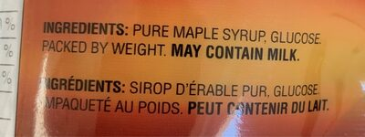Maple Treat Candies - Ingrediënten