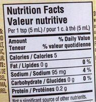 Moutarde préparée - Nutrition facts - fr