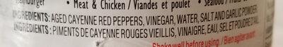 Frank's Red Hot - Ingrédients - fr