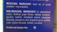 Claritin - Ingrédients - en