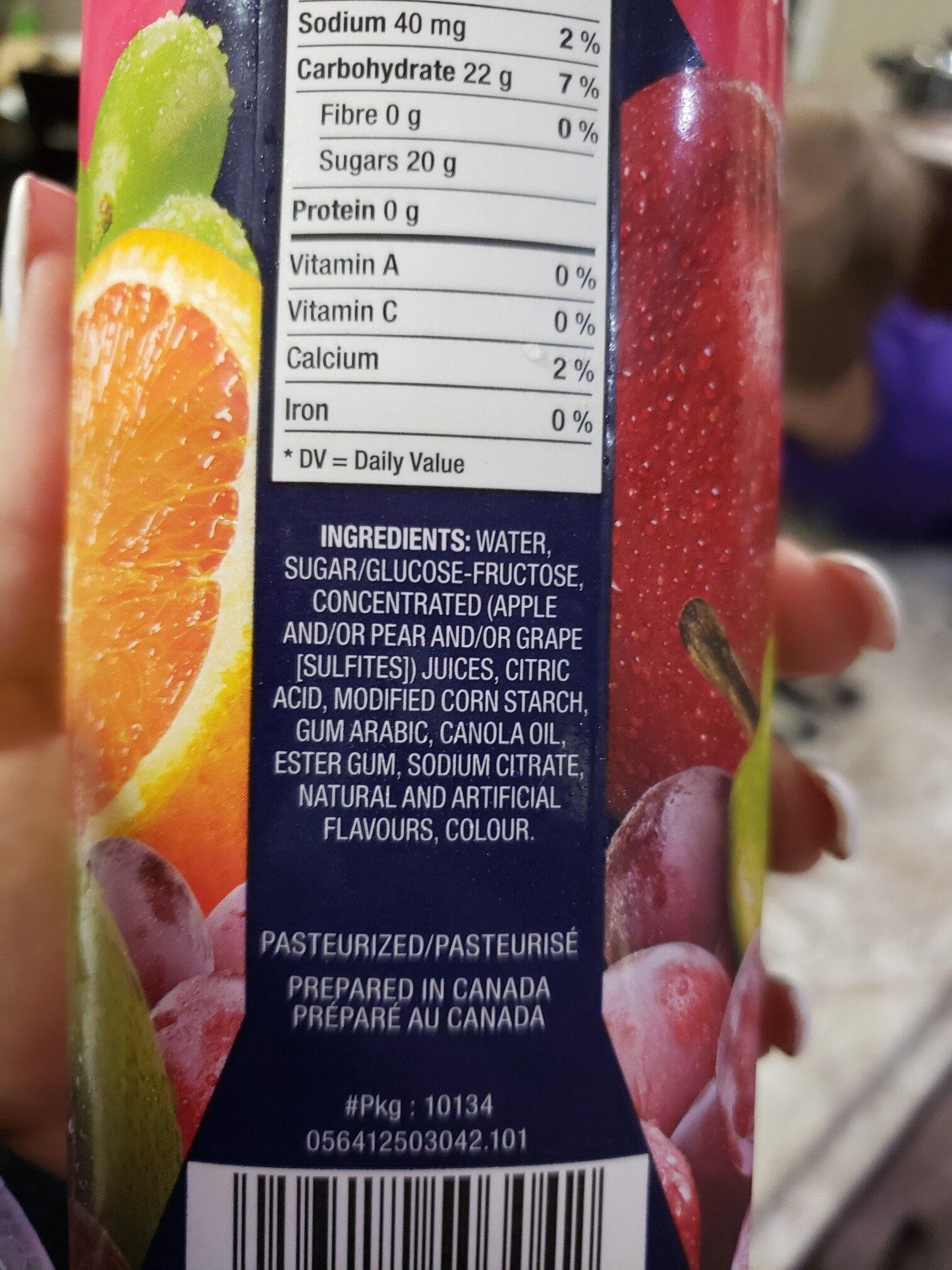 Allen's Fruit Punch - Ingredienti - en