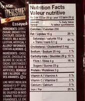 Chocolat noir - Nutrition facts - fr