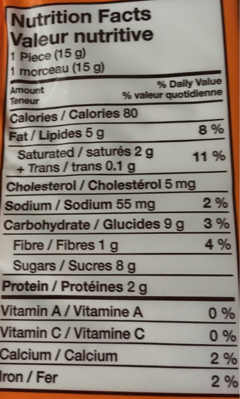 Hershey's Reese Snack Size Peanut Butter Cups Candy - Informations nutritionnelles