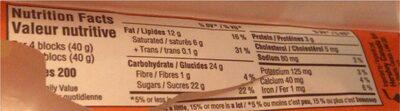 Barre De Chocolat Au Beurre D'arachide (format Familial) - Informations nutritionnelles - fr
