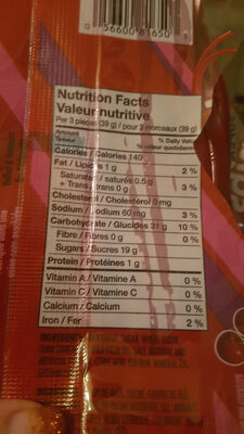 Super Nibs - Nutrition facts