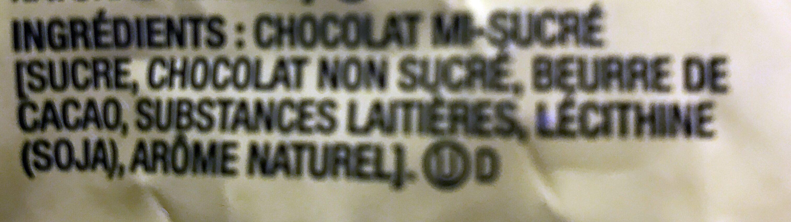 Grains de chocolat pur mi-sucré - Ingrédients - fr