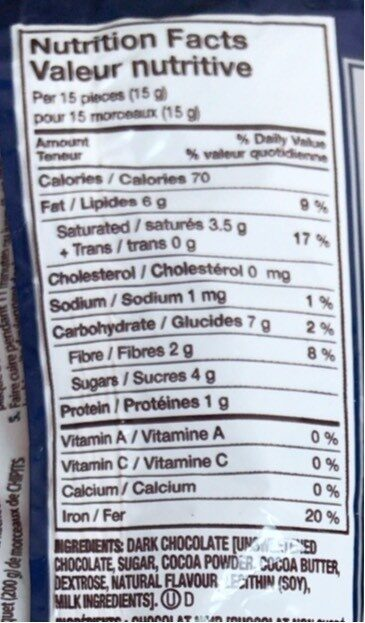 Chipits - Nutrition facts - en