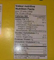Tarte a saveur de citron - Informations nutritionnelles - fr