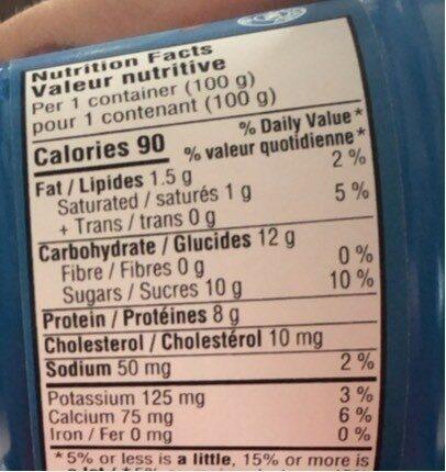 Oïkos passion fruit - Informations nutritionnelles - en