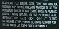 Yogourt Probiotique Activia (pruneau) - Ingredients