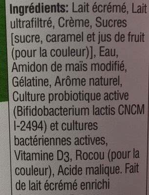 Activia Active Probiotics Vanilla - Ingrédients