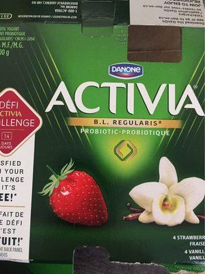 Yogourt Probiotique Activia (fraises, Vanille) - Produit - fr