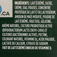Yogourt Probiotique Activia (fraises, Vanille) - Ingrédients - fr