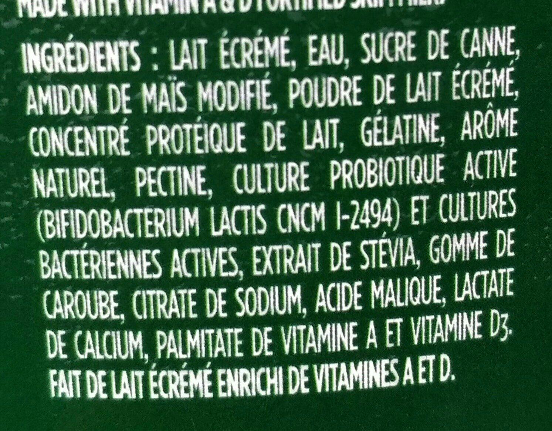 Activia - Ingredients - fr