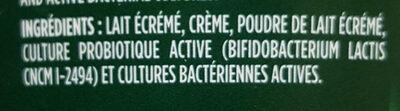 Activia nature - Ingrédients