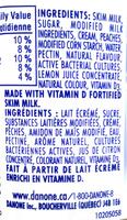 Creamy Peach - Ingredients