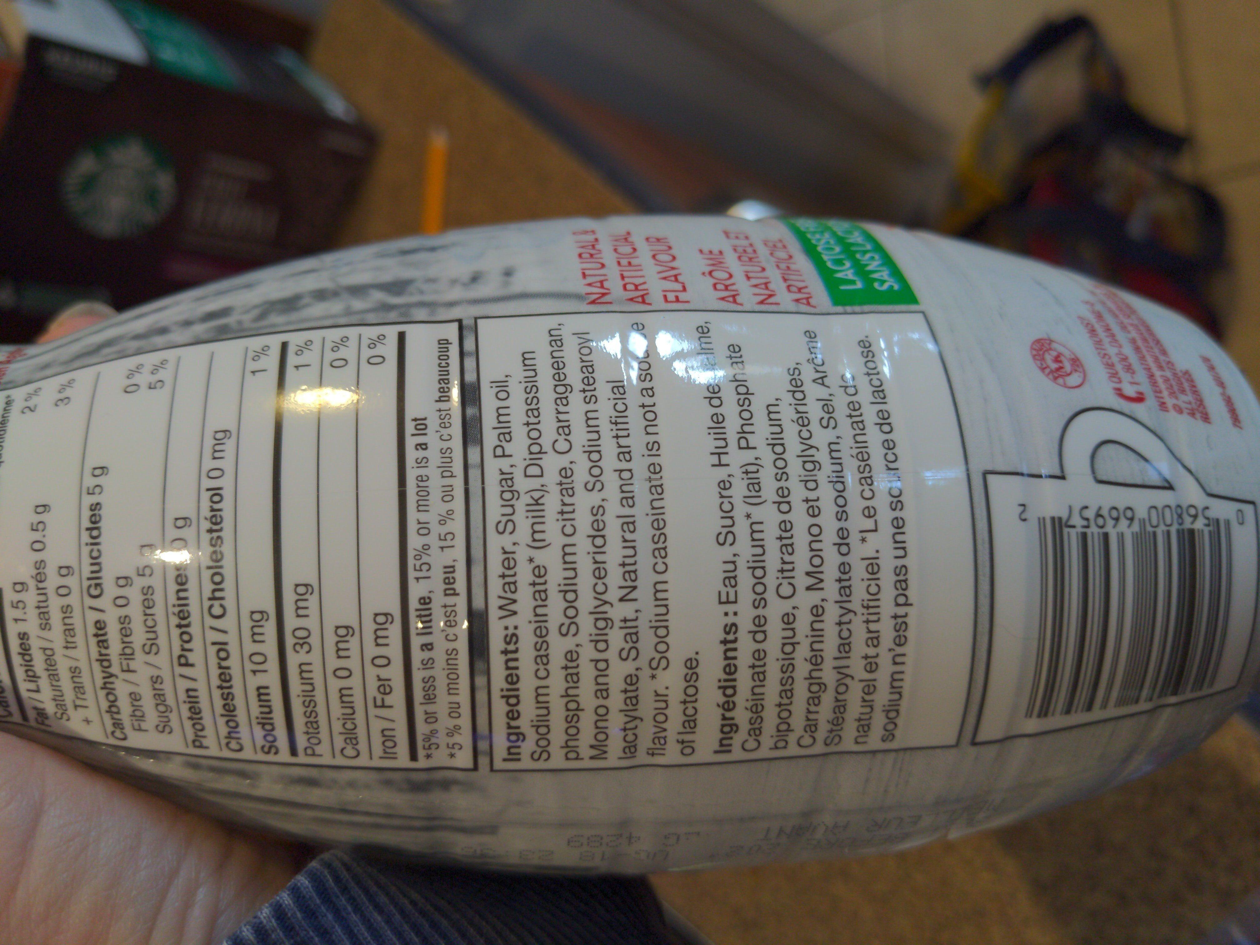 Maple Latte Coffee Creamer - Ingredienti - en