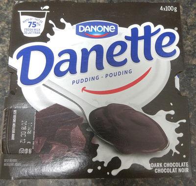 Danette chocolat noir - Produit - fr