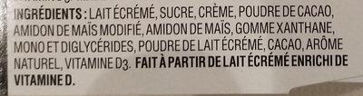 Danette chocolat noir - Ingrédients - en