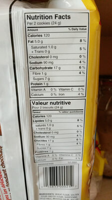 Classic oatmeal cookies, classic oatmeal - Ingredients - en